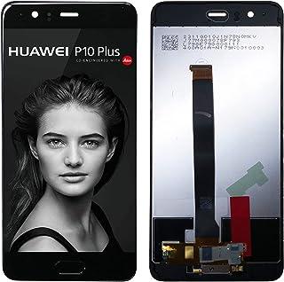 بديل سواركينج متوافق مع جهاز هواوي P10 بلس (أسود مع إطار) شاشة LCD تعمل باللمس مع أدوات إصلاح