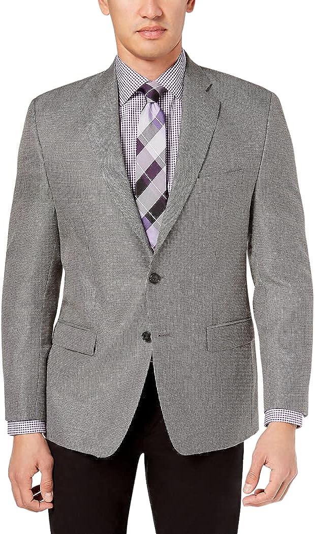 LAUREN RALPH LAUREN Mens Classic-Fit UltraFlex Patterned Sport Coat Gray