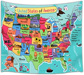 Best us map tapestry Reviews
