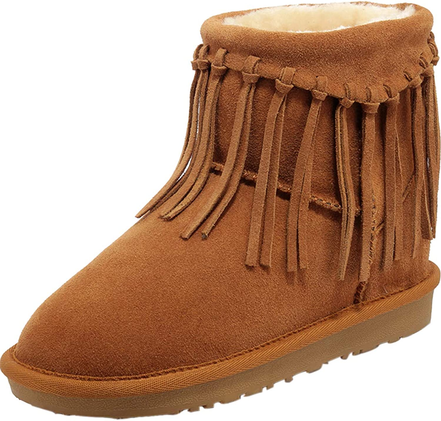 Jushee Womens Juaware cm no-Heel Ankle Pull-on Suede Boots