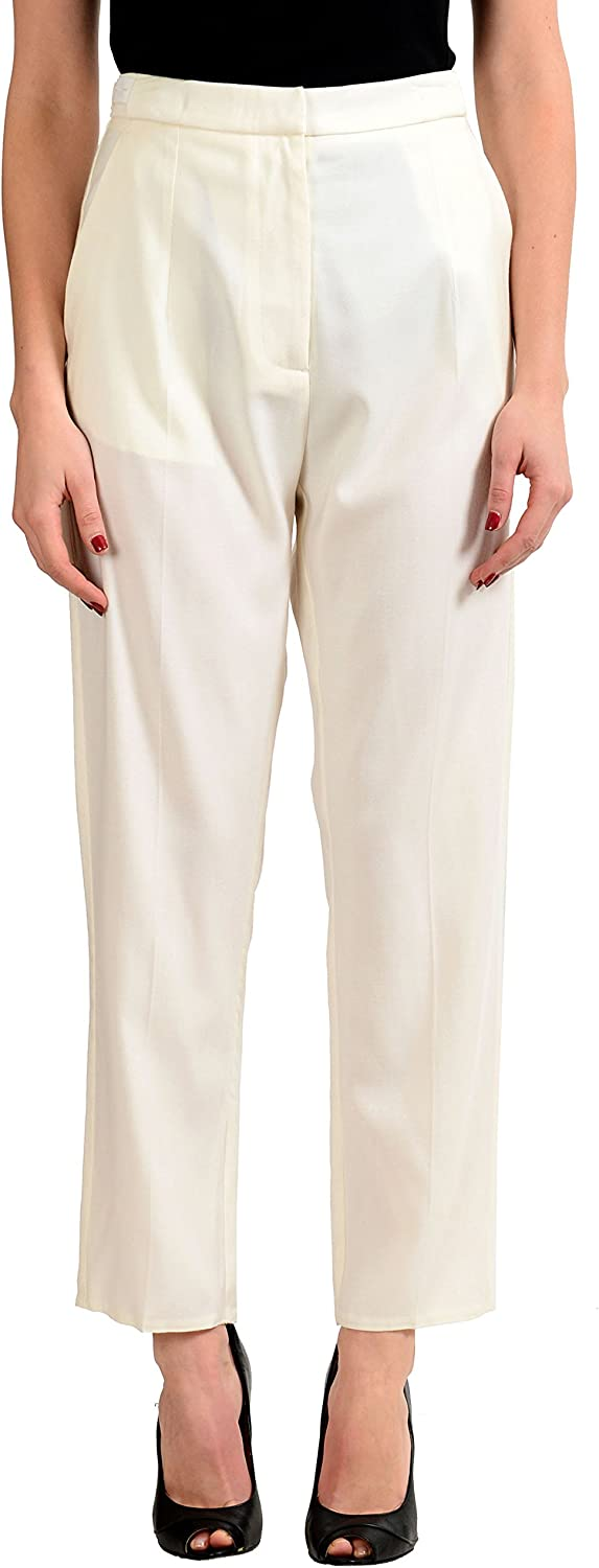 Maison Margiela MM6 Women's Off White Wool Casual Pants US 6 IT 42