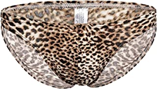 Men's Sexy Soft Summer Underwear Leopard Print Bikini Swimwear Panties