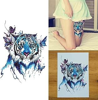 COKOHAPPY Temporary Tattoo , Large Tattoo Butterfly Tiger Flash Tattoo