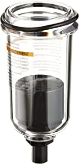Parker PS746P Polycarbonate Bowl with No Drain for 16L and 06L Series Lubricator 2.60oz and 2.9oz Capacity 150 psig