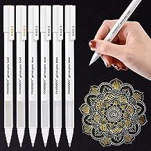 White Gold Silver Gel Pens, PANDAFLY 3 Colors Gel Ink Pen Set, Archival Ink Fine Tip Sketching Pens For Illustration Design, Art Drawing, Black Paper Drawing, Adult Coloring Book, Pack of 6