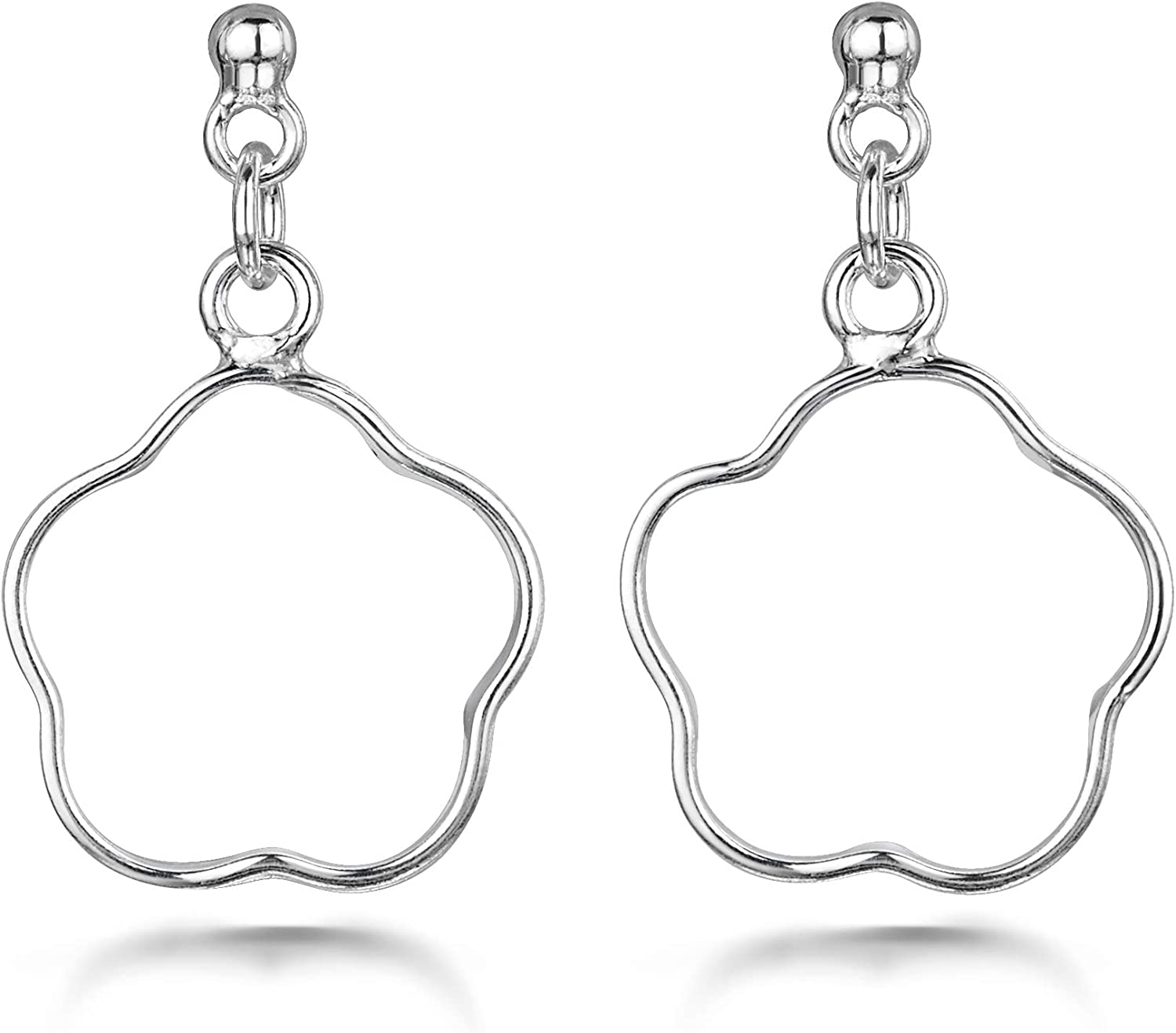 Amberta Women's 925 Sterling A surprise price is realized Earrings Silver Drop OFFicial store Nature