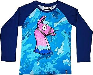 Epic Games T-Shirt Originale Fortnite Bambino Ragazzo Fishstick Testa di Pesce Maglia Nera Maglietta
