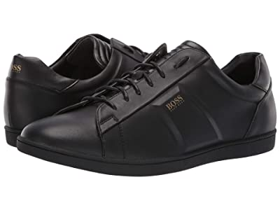 BOSS Hugo Boss Rumba Leather Sneaker By BOSS (Black) Men