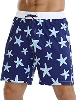 Nonwe Men's Quick Dry Soft Relaxed Fit Volley Swim Trunks