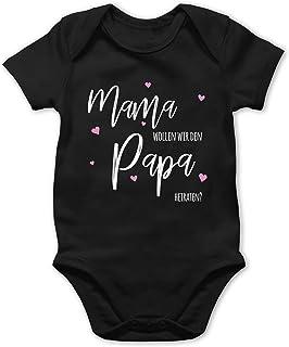 Shirtracer Mama wollen wir Papa heiraten - Baby Body Kurzarm für Jungen und Mädchen