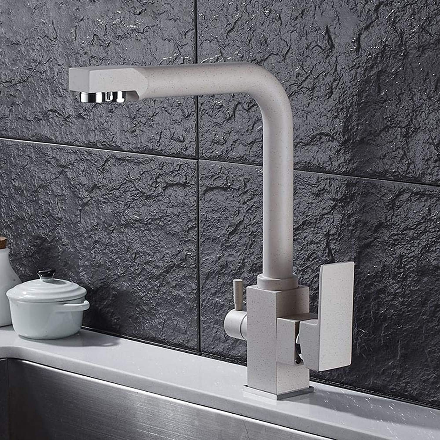 Lxj Faucet hot and cold kitchen three with water purifier faucet sink faucet redary effluent
