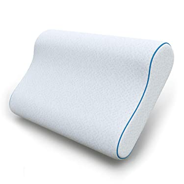 Dreamzie - Memory Foam Pillow - Made in EU, OEKO-TEX® & CertiPUR - Bamboo Cover - Orthopaedic Neck Pillow Reduces Pain - Anti-Snoring