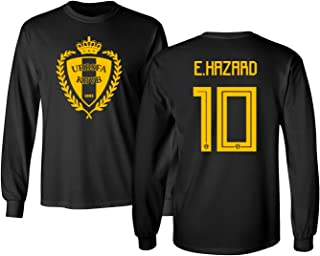 Tcamp Belgium 2018 National Soccer #10 Eden Hazard World Championship Men's Long Sleeve T-Shirt