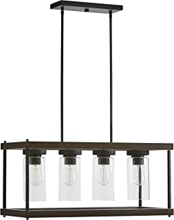 Stone & Beam Rustic Indoor/Outdoor Option Outdoor Pendant Light with Bulb, 60.05