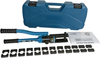 TEMCo Industrial Hydraulic Cable Lug Crimper TH0005-11 US TON 6 AWG to 600 MCM Electrical...