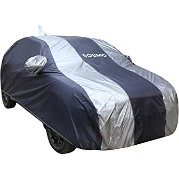 Amazon Brand - Solimo Maruti Suzuki Baleno UV Protection & Dustproof Car Cover (Dark Blue & Silver)