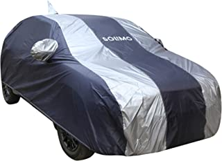 Amazon Brand - Solimo Maruti Suzuki Baleno Water Resistant Car Cover (Dark Blue & Silver)