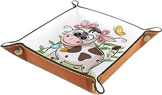 Vockgeng Dessin animé, Vache, Papillon Boîte de Rangement Panier Organisateur de Bureau Plateau décoratif approprié pour B...