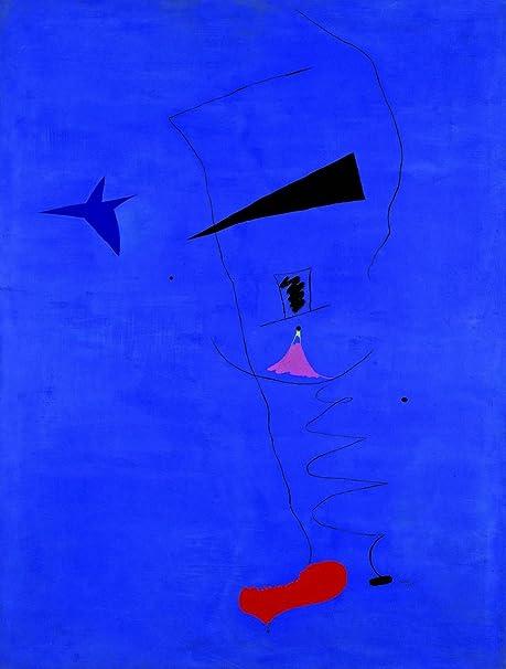 Amazon Com Joan Miro Peinture Etoile Bleue Size 24x32 Inch Poster Art Print Wall Decor Posters Prints