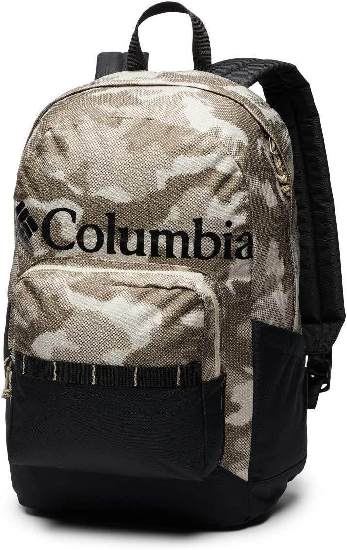 Columbia Zigzag 22L Backpack, Urban Pack, Laptop Sleeve, White Toucanical/Blossom Pink, One Size