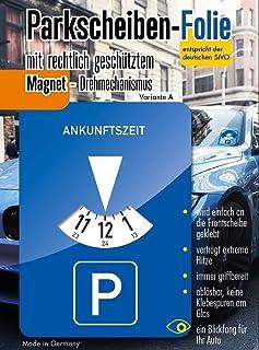 Andre Kulakowski Parkeerschijf-sticker, variant A, folie, sticker, etiket, zelfklevend.