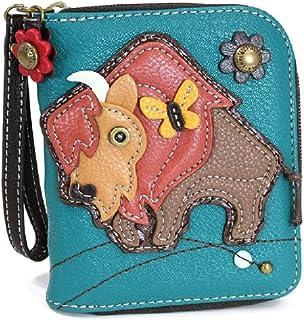Chala Zip-Around Wallet, Buffalo, Turquoise