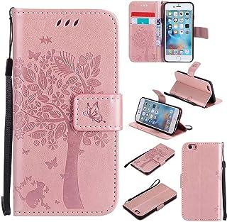 Capa C-Super Mall-UK para Apple iPhone 7, estampa de borboleta de gato em relevo, carteira de couro PU com suporte para Ap...