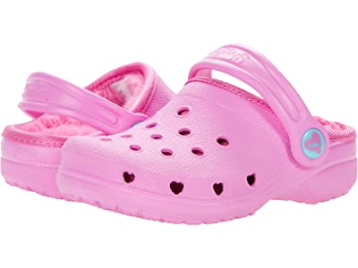SKECHERS KIDS Cali Gear Heart Charmer Faux Fur Lined Clog 308015N (Toddler) (Pink) Girl