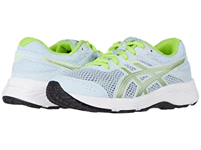 ASICS Kids GEL-Contend 6 (Little Kid/Big Kid) (Soft Sky/Pure Silver) Girl
