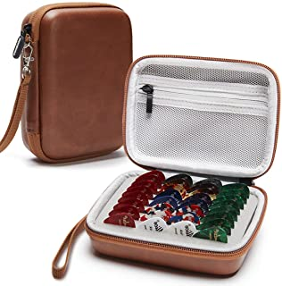 COOZOOM Guitar Pick Holder Case Compatible for Fender, ChromaCast, D'Addario, JIM DUNLOP, Bolopick, UNLP MUSICAL INSTRUMENT, Haneye All Size Picks Storage Pouch Box(CASE ONLY)