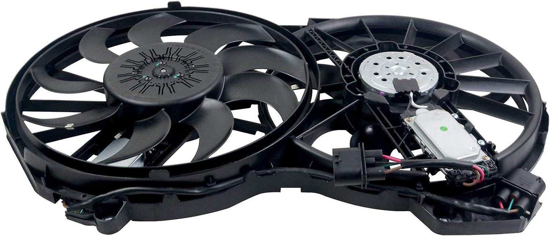 Flynsu Ventilador de refrigeración del radiador completo compatible con A6 Avant Allroad 4F5 C6 2005-2011 CAHA CCDA 4F0121003K 1137328230