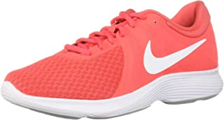 Nike Women's WMNS Revolution 4 Ember Glow/White-Pink Glaze-Wolf Grey Running Shoes-3.5 UK (36.5 EU) (6 US) (908999-800)