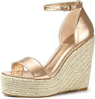 Allegra K Women's Open Toe Espadrille Wedges Platform Sandals
