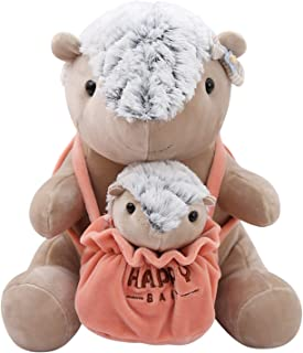 Beatrbior Cuddly Stuffed Animal Mother and Son Soft Plush Toy Love Gift for Thanksgiving, Christmas, 2020 New Year Gift (Pangolin Mother and Child)