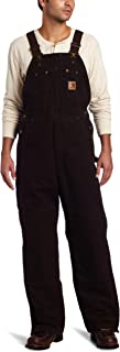 Men's Quilt Lined Sandstone Bib Overall R27