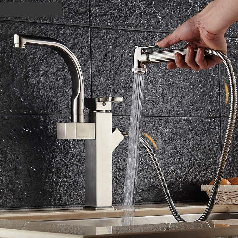 JONTON Erhhter Zugeinzellochwaschbeckenhandwsche heies und kaltes Wasserhahn einziehbare Ausdehnungsküche Badezimmer über Gegenbecken