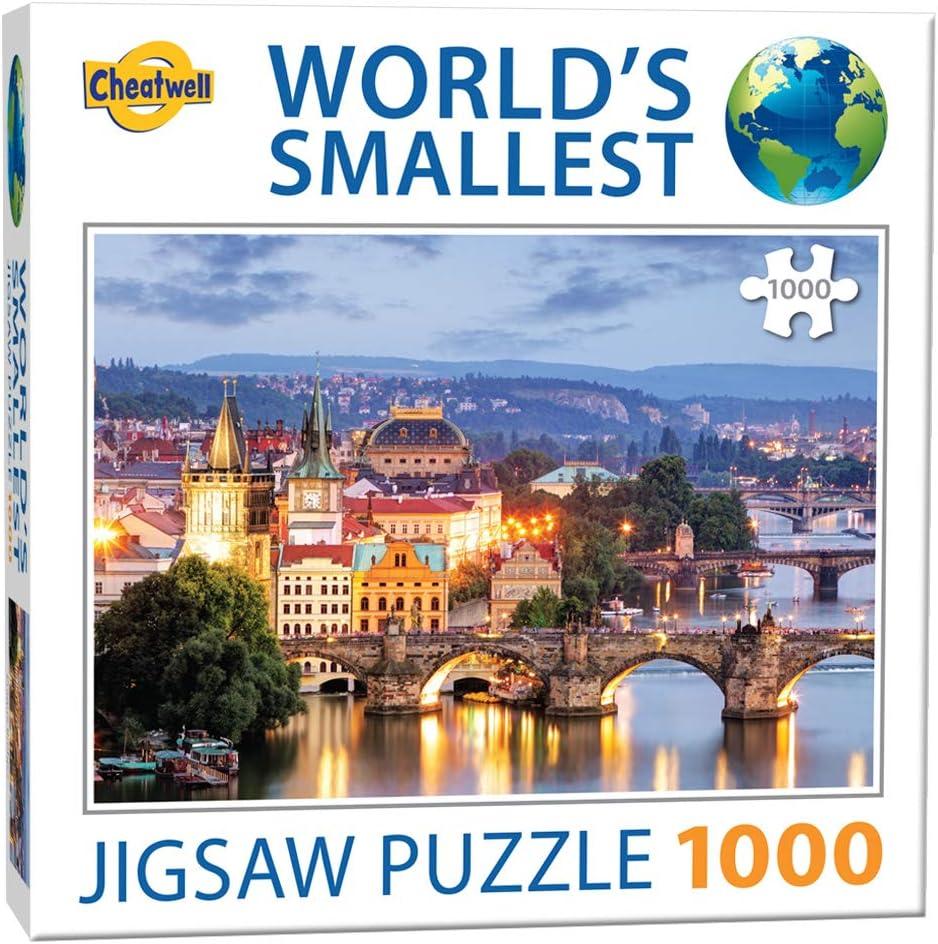 Cheatwell Games- Prague Bridges Jigsaw World'S Smallest Rompecabezas de 1000 Piezas de Puentes de Praga, Multicolor (13992)