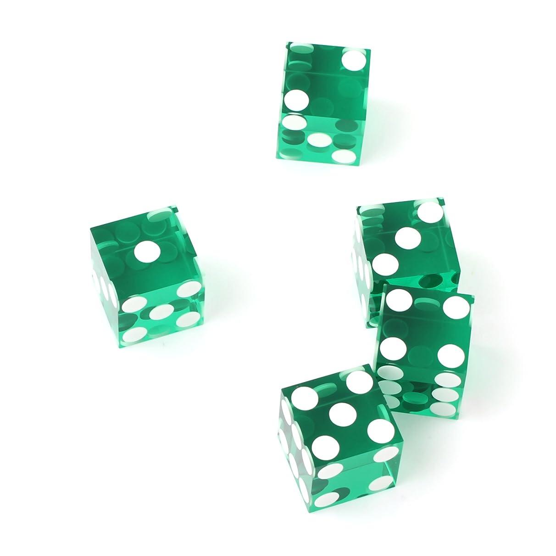 IDS Set of 5 19mm Precision Casino Dice with Razor Edges