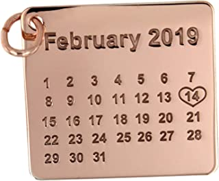 Calendario personalizzabile con la tua data del cuore