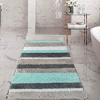 HEBE Extra Long Bath Rug Runner for Bathroom Extra Large Non Slip Microfiber Bathroom Mat Rug Runner Machine Washable Area Rugs,27.5