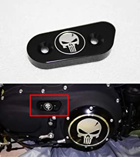 Flat Black Oval Primary Chain Inspection Cover for Harley Big Twin 65-06