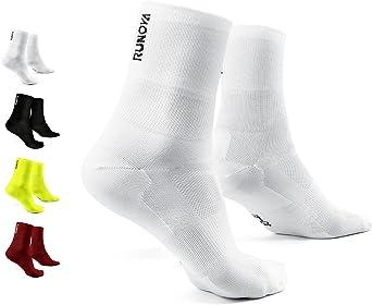 RUNOVA Hardloopsokken, verkrijgbaar als 1 of 2 stuks, sportsokken voor prestaties en comfort, sokken voor fitness en dagelijks gebruik, uniseks sokken, ademende tennissokken voor dames en heren