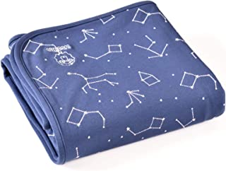 "Baby Blanket for Crib or Stroller, Merino Wool Organic Cotton Blanket, 40"" x 31.5"", Nightsky"