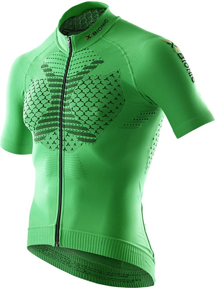 X-bionic biking, maglietta da ciclismo per uomo, 90% poliammide, 6% polipropilene, 4% elastan O100530