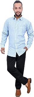 The Mods Men's Formal Light Blue Color Shirt