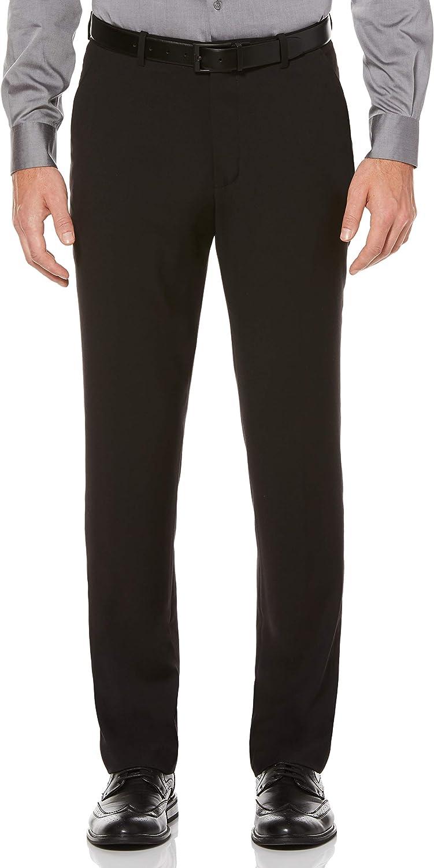 Perry Ellis Men's Slim Fit Flat Front Pant