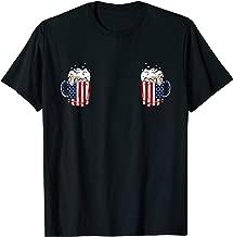 Titties n Beer Boob T-Shirt Sexy American Flag Beer Mug Tee