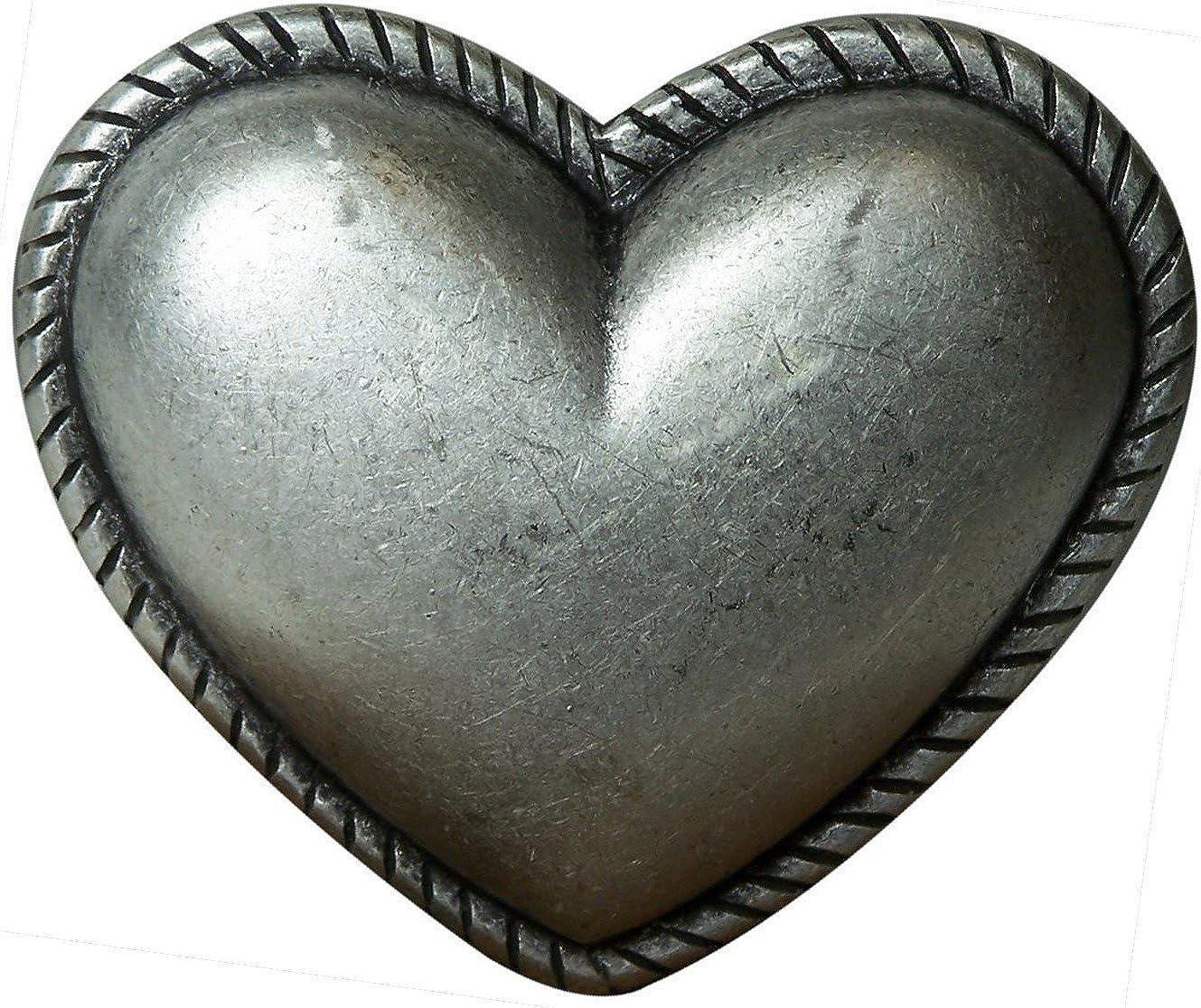 FRONHOFER G/ürtelschnalle Buckle Herz Damen 3 cm altsilber Herzform Schnalle G/ürtelschlie/ße 18325