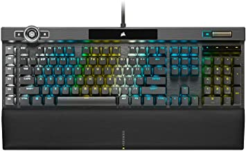 Corsair K100 RGB Mechanical Gaming Keyboard (Cherry MX Speed Keyswitches: Linear and Rapid, Per-Key Backlighting, Leathere...