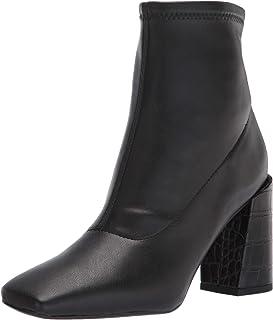 حذاء برقبة حتى منتصف الساق من Franco Sarto للنساء، أسود، 7